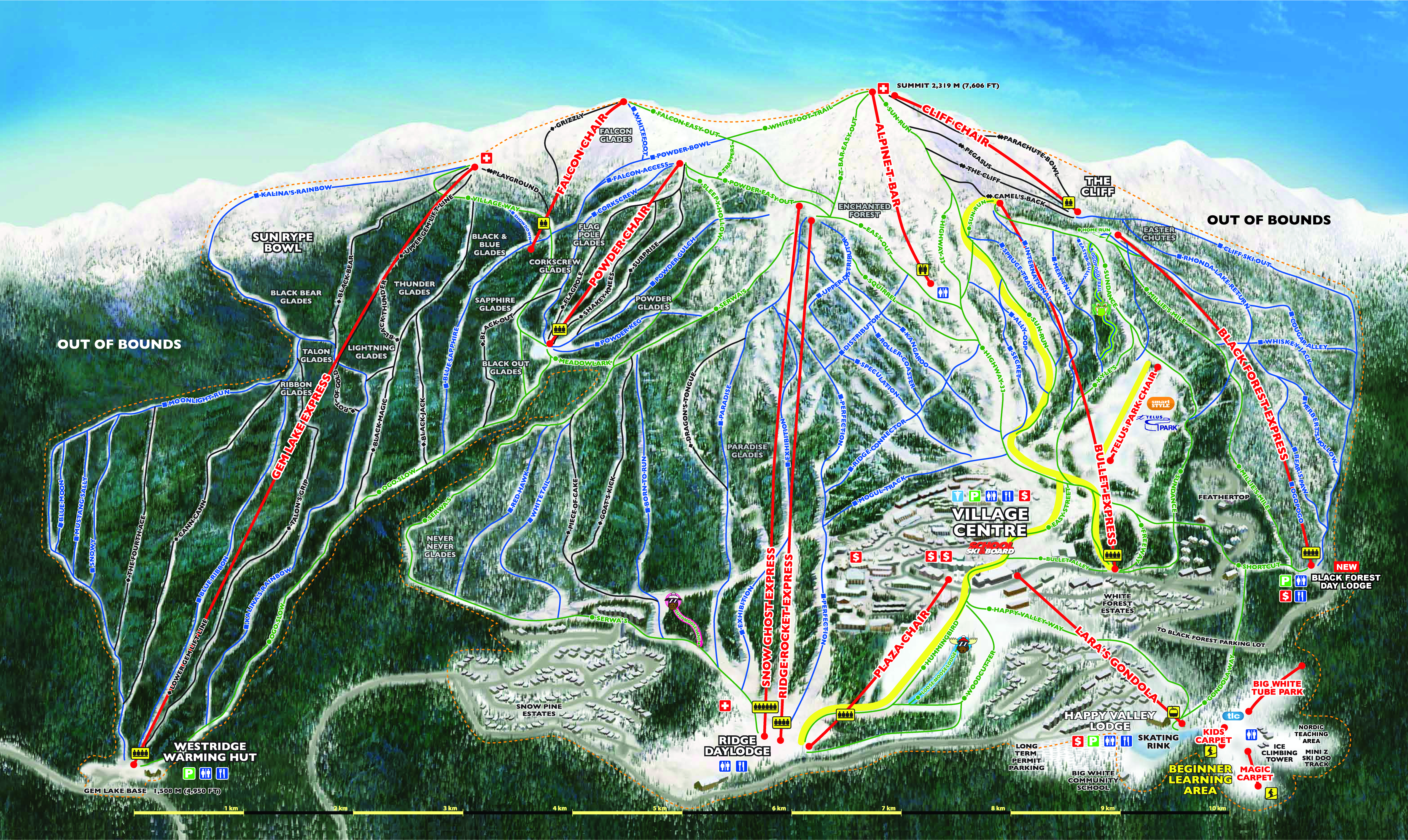 World class skiing snowboarding and accommodations at big white alpine map download pdf download jpeg gumiabroncs Images