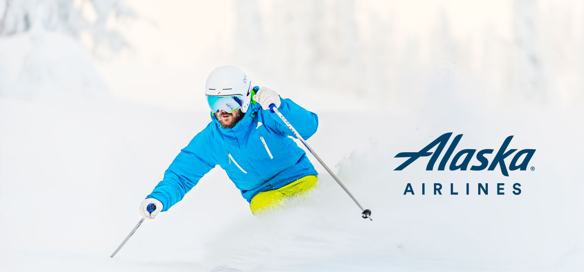SKI FREE WITH ALASKA AIRLINES